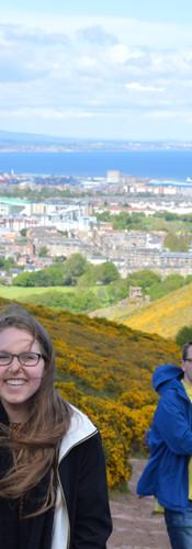 Climbing Arthur's Seat in Edinburg, Scotland. What an international beaut.