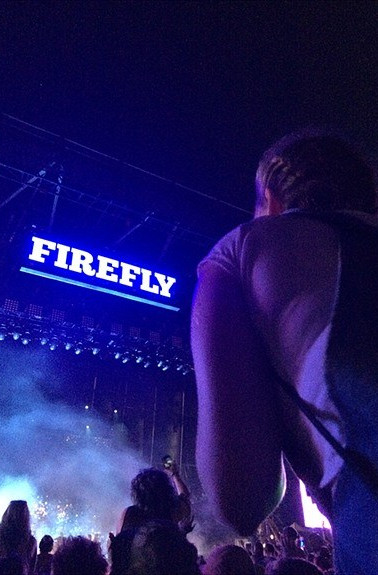 Up on some shoulders accompanied by soul-rockin music at Firefly Music Festival.