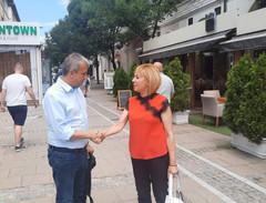 Мая Манолова подкрепи Илко Стоянов за кмет на Благоевград
