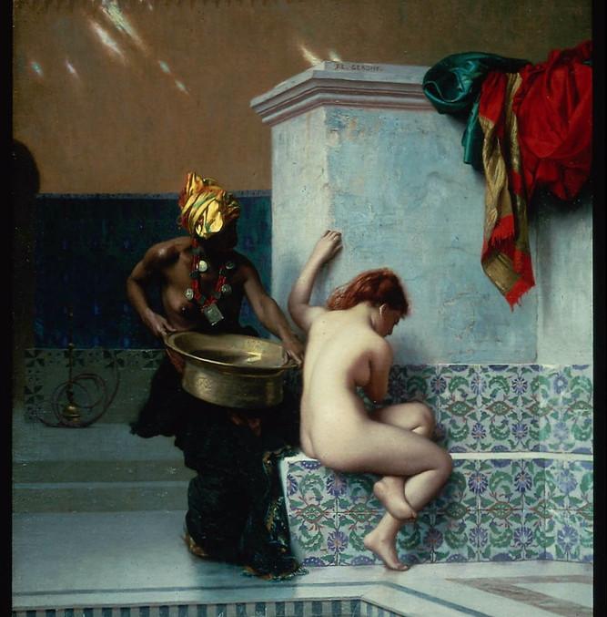 """Jean Léon Gérôme, Moorish Bath , 1870,  Oil on canvas, 20 x 16"""""""