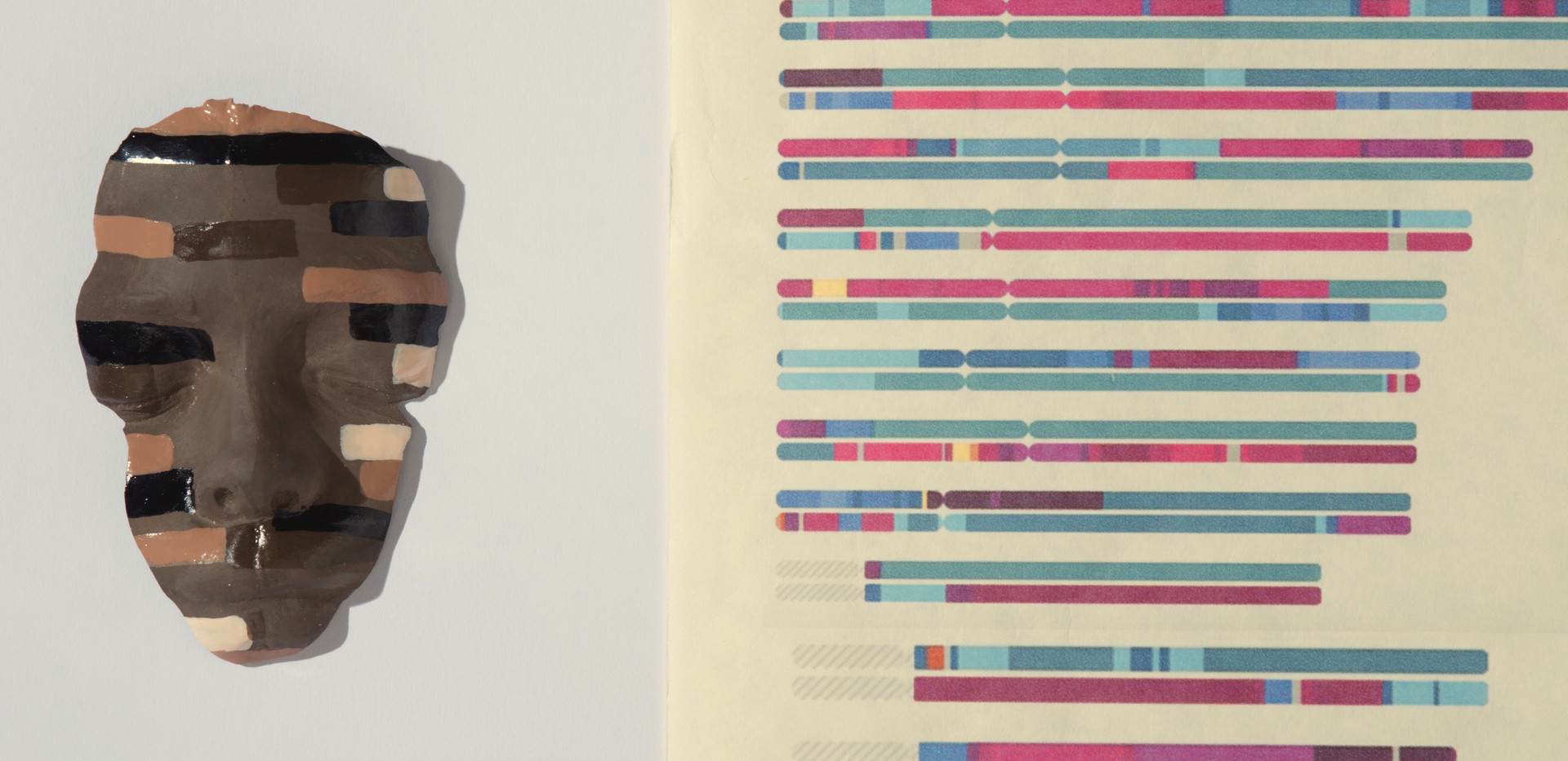 23 and Me DNA Data Translations in Color detail 3
