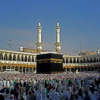 Kaaba at the Masjid Haraam in Makkah wid