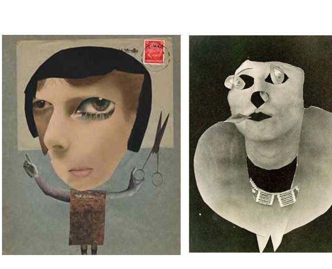 Dada artist Hannah Höch self portrait collages