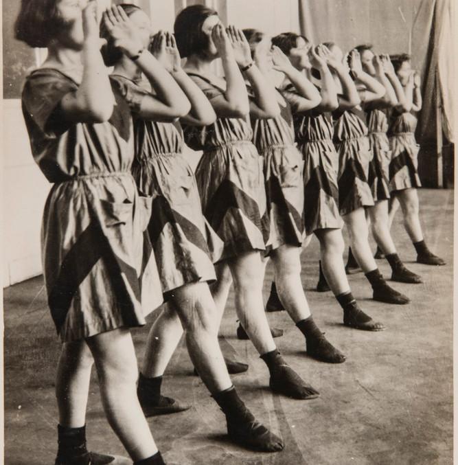 Varvara Stepanova, Students in sports clothing of her designs, Russian Constructivism, 1924