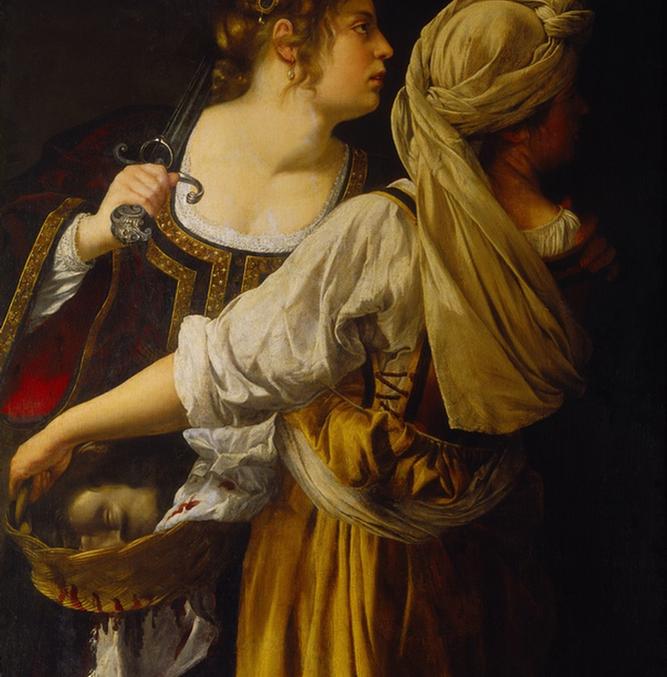 Artemisia Gentileschi. Judith and her Maidservant. c. 1618-19