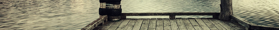Wood dock over a calm lake