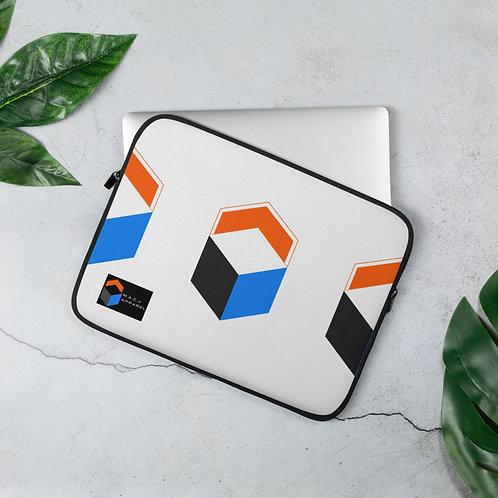 M.A.C.J Apparel White Laptop Sleeve (Horizontal Pattern)
