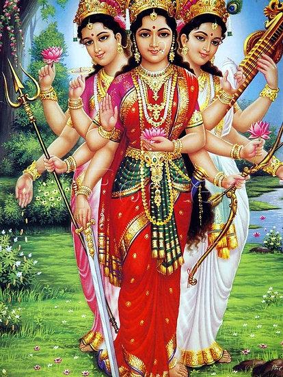Hindu Triumvirate Level 2 ~ Goddess Saraswati, Goddess Lakshmi and the Goddess P