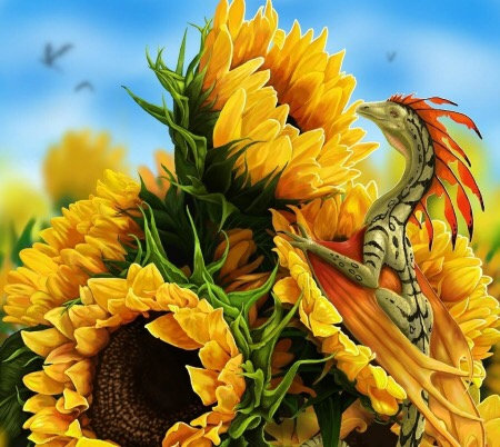 L ~ Sunflower Faery Dragon