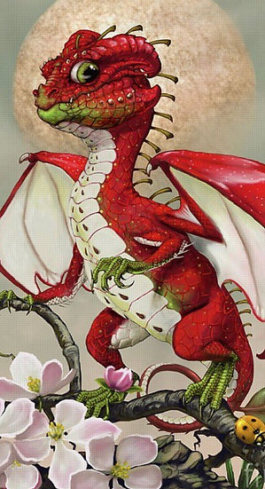 B ~ Rose Flower Faery Dragon