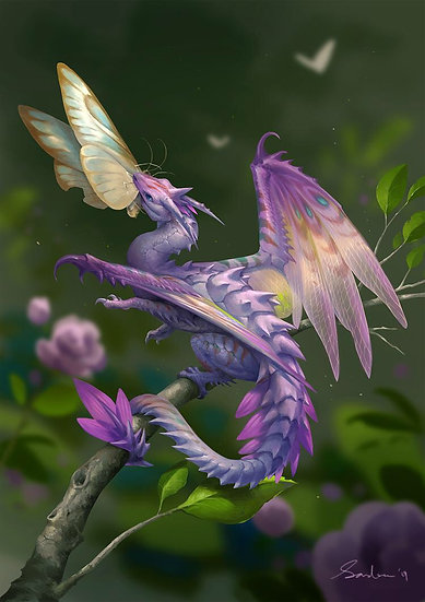 T ~ Violet Flower Faery Dragon