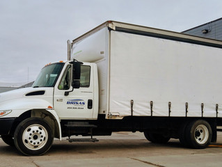 New to the fleet: Double Curtain Sided Truck