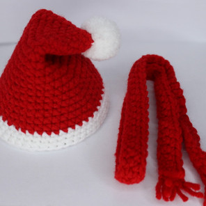 Pennie's Christmas Hat and Scarf