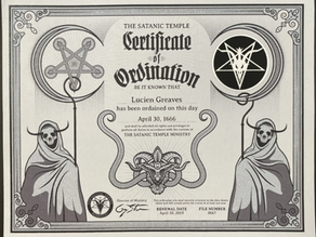 I'm Now An Officially Ordained Minister of Satan! HAIL!