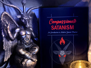 """My new book, """"Compassionate Satanism: An Introduction to Modern Satanic Practice,"""" is now available!"""