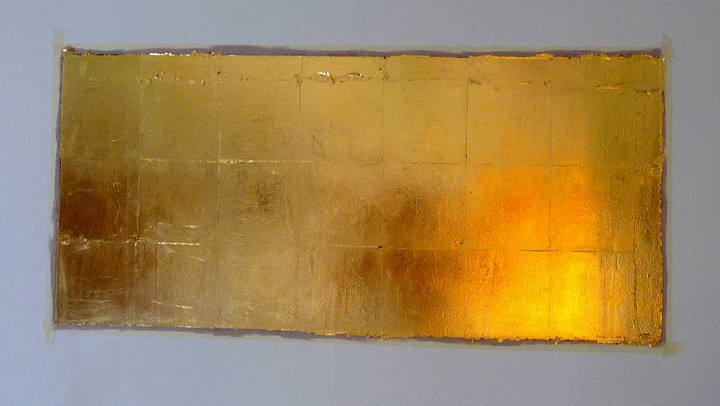 decoration-murale-feuille-cuivre-or-cadre-lodeve