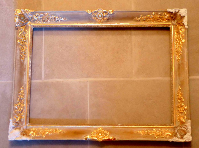 miroir-restauration-en cours-dorure-or-cadre-lodeve