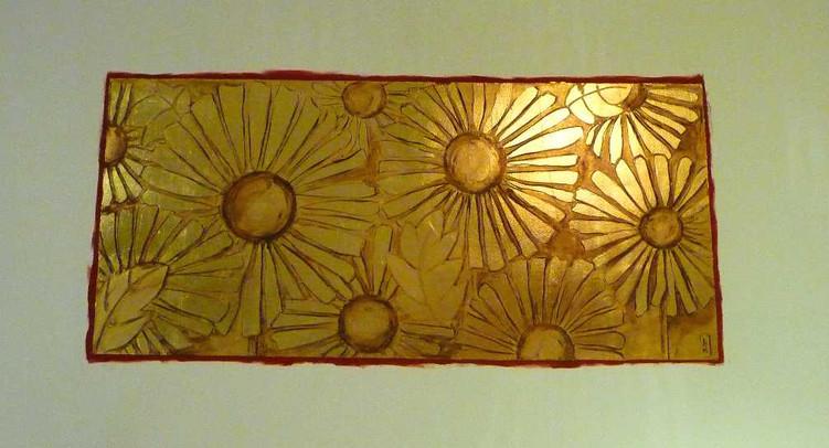 tableau-mural-feuille-cuivre-or-cadre-lodeve
