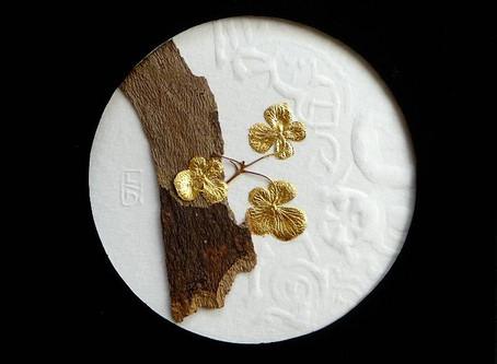 Végétaux dorés à la feuille d'or