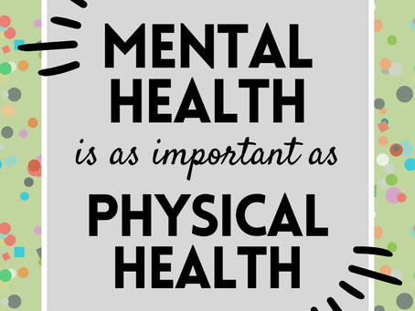 Mental health should be just as important as physical health.