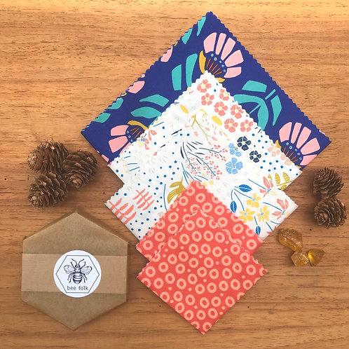 bee folk bar and organic cotton fabric kit Summer Bloom