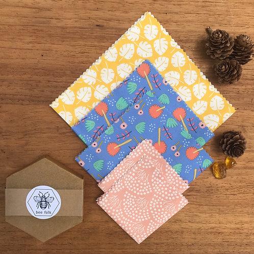 bee folk bar and organic cotton kit Garden Delight