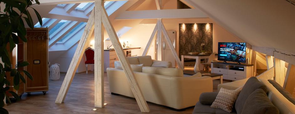 Abendstimmung-Wohnzimmer