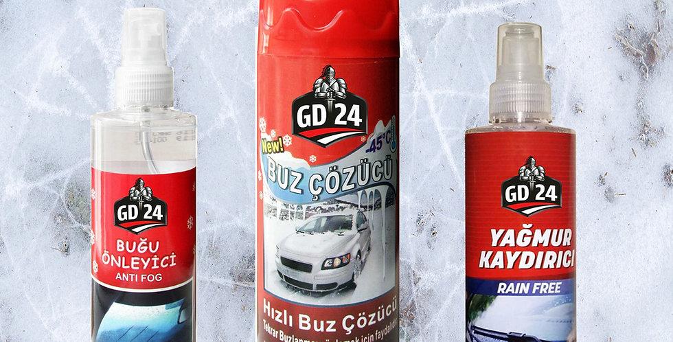 GD24 Buz Çözücü + Yağmur Kaydırıcı + Buğu Önleyici