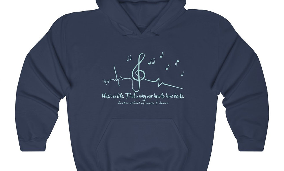 Music is Life Mens/Unisex Heavy Blend™ Hooded Sweatshirt