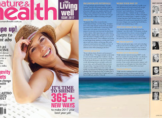 Living Well feature in Nature & Health Magazine