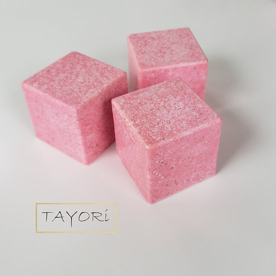 Pink Champagne Spa Salt Cube Soap | 6.5 ozs or 7 ozs