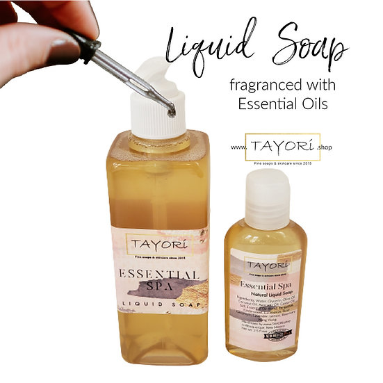 Natural Vegan Liquid Soap - Essential Spa | 2.5 ozs or 10 ozs