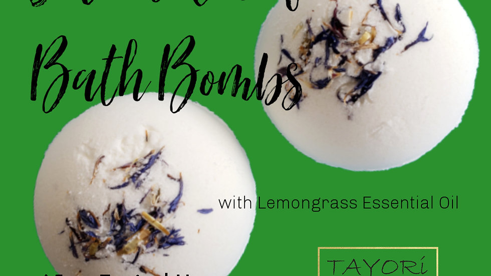 "65 mg CBD Bath Bombs with Lemongrass | 2.5"" diameter"