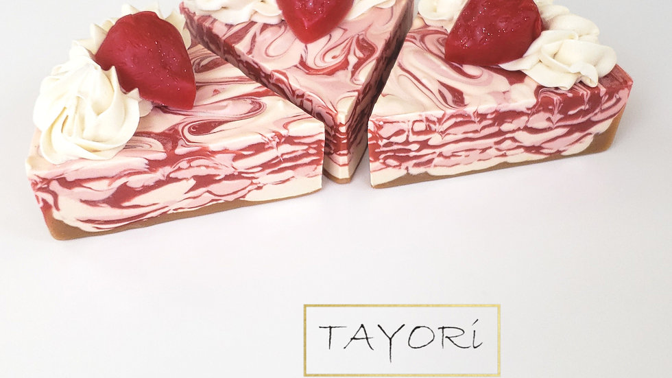 Strawberries & Cream Soap Cake  | 6 oz