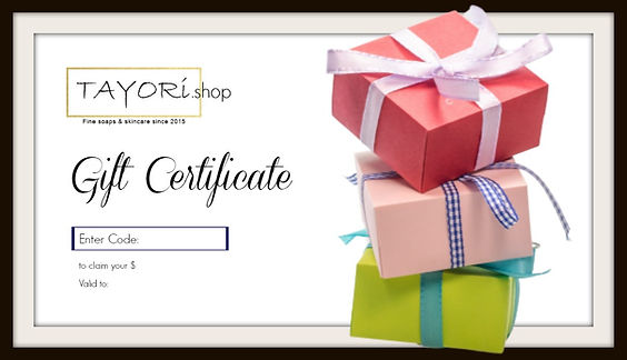 Example of a Gift Certificate