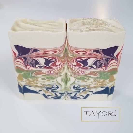 Rainbow Flutter Bar Soap | 3.5 oz or  4 oz