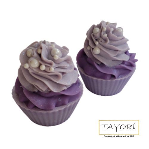 Lavender Pearl 2 tone Cupcake Soap | 4 ozs
