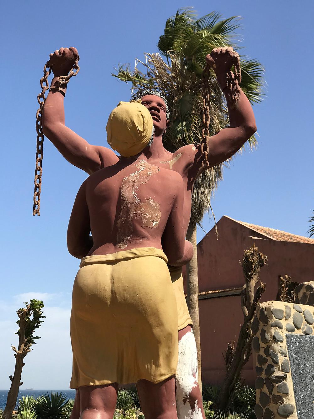 The Freedom Statue on Goree Island