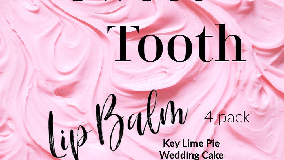 The SWEET TOOTH LIP BALMs | 4 tubes of lip balm