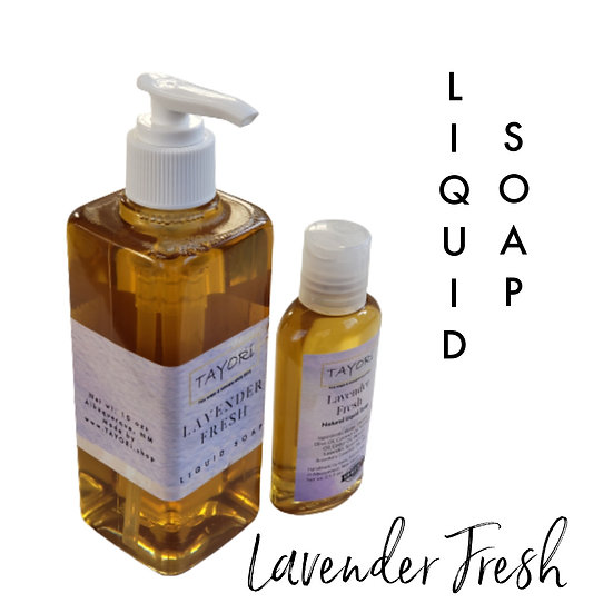 Natural Vegan Liquid Soap - Lavender Fresh   Various size options