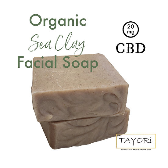 Organic Sea Clay Facial Soap 20mg CBD | 4 ozs