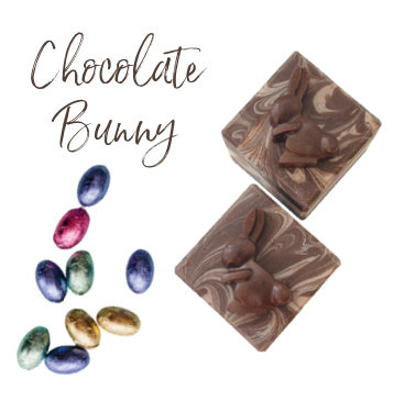 Chocolate Bunny Cube Soap | 3 ozs or 4 ozs