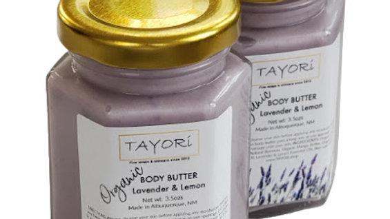 Organic Body Butter - Lavender Lemon | 3.5 ozs