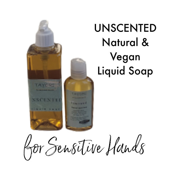 Natural Vegan Liquid Soap - Unscented | Various sizes
