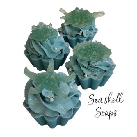 Seashell Vegan Cupcake Soap | 3 ozs