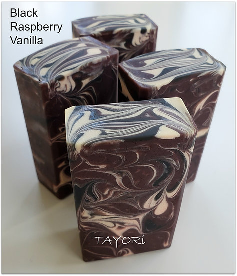 Black Raspberry Vanilla Swirl Bar Soap | 3.5 oz and 4 oz