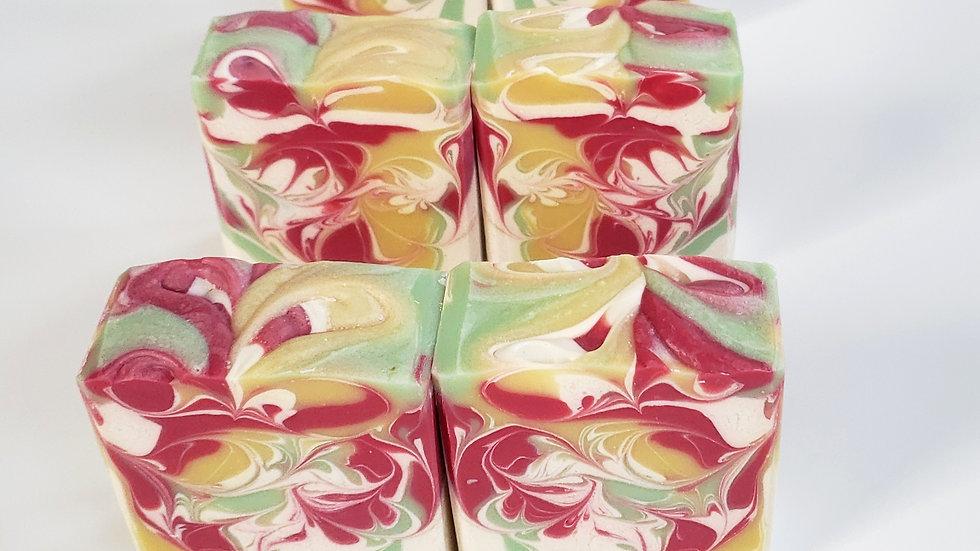 Festive Garden Bar Soap   4.5 ozs