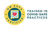Symbol for New Mexico Safe Certified showing that TAYORi is trained in COVID SAFETY