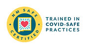 The symbol for New Mexico Safe Certified having completed training in COVID safe practices