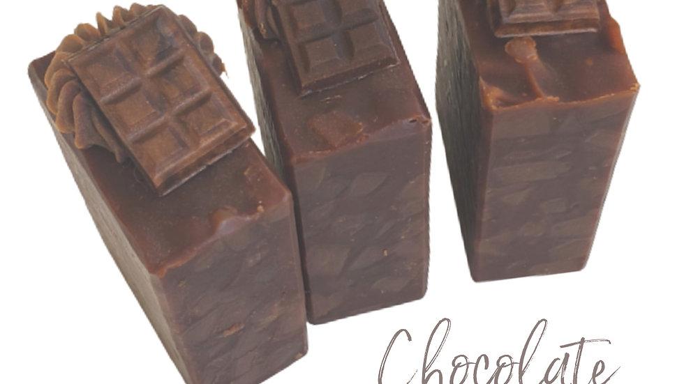 Chocolate Pecan Goat Milk Bar Soap   2.5 ozs